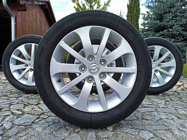 "Alufelgi Mazda 16"" 5x114,3 Toyota, Mitsubishi + letnie 205/55/16"