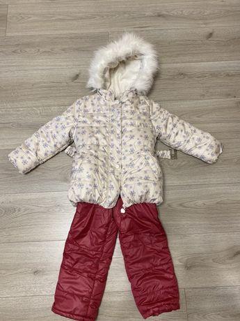 Детская зимняя куртка со штанами  теплая