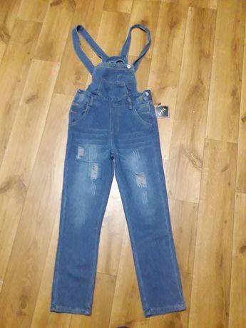 Классный джинсовый комбинезон для девочки