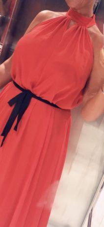 Sukienka czerwona włoska