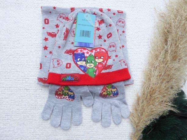 Komplet zimowy Pidżamersi Komin Czapa rękawiczki