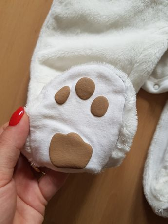 Kombinezon niemowlęcy GAP 62 68 przejściowy 3-6 miesięcy miś