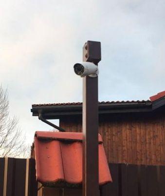 Установка видеонаблюдения, монтаж