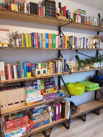 Regał na książki loft, profile metalowe