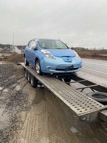Разборка Nissan Leaf капот фара крыло дверь радиатор балка усилитель