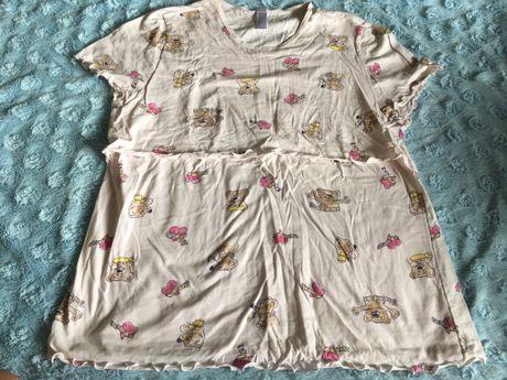 Piżama koszula ciążowa i do karmienia L bawełna