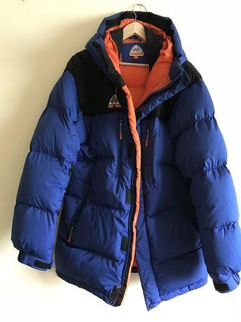 Kurtka zimowa puchowa płaszcz Lars Monsen L/XL b.ciepła W-wa B-stok