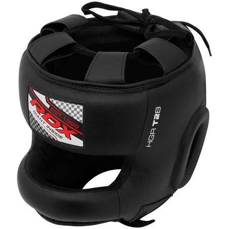 Шлем боксерский бамперный RDX T2 Head Guard with Nose Protection Bar