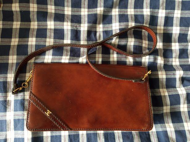 PRZEPIĘKNA skóra paco CC elegancka włoska torba kopertka Vintage Retro
