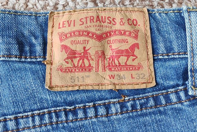 LEVI'S 511 Slim Fit джинсы голубые оригинал W34 L32 левис