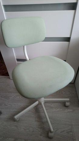 Fotel, krzesło obrotowe, biało-seledynowe, Ikea