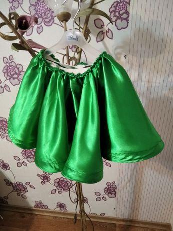 Новогодний костюм юбка зеленая Елочка на 4-6 лет