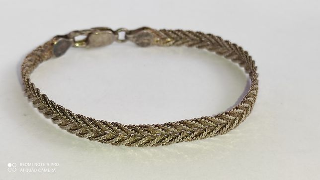 Крутая женская цепочка на руку серебро 925 позолота Italy 9.27 г 192мм