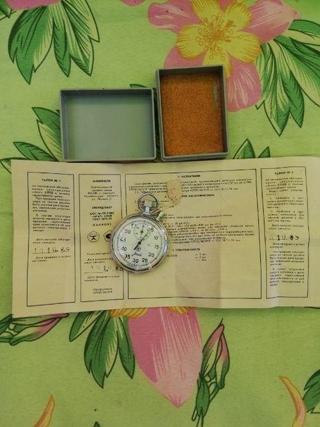 Секундомер Агат, новый, с паспортом, в коробке. Самовывоз в Харькове.