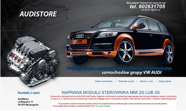 Wzmacniacz Audi BOSE , Bang Olufsen naprawa