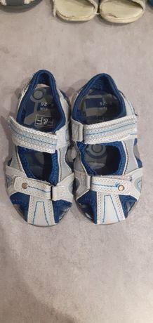 Sandałki jasne szare F&f 16cm, rom. 26