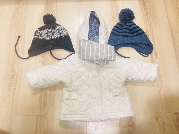Куртка Zara 12-18мес+ ПОДАРОК шапка и шарф