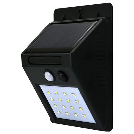 Lampa solarna kinkiet ogrodowy LED + czujnik ruchu 307644 POLUX