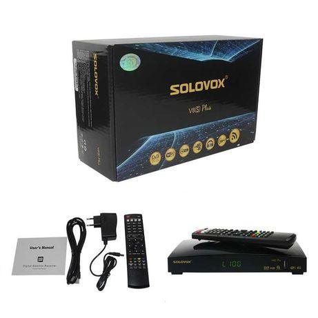 Recetor Satélite FHD - Solovox V8S Plus - Novo