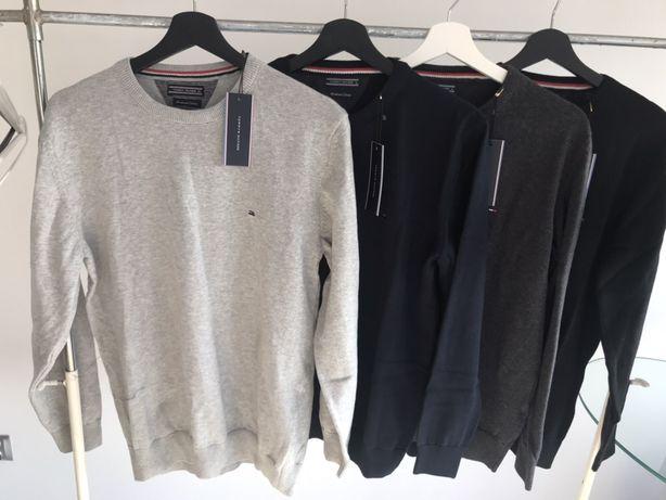 Sweter Tommy Hilfiger granatowy M L XL XXL PROMOCJA DO 10.07