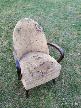 Fotel PRL lata 50 art deco do renowacji