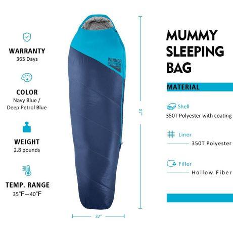 Спальник Мумия + Компрессионная сумка