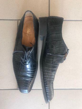 Мужские туфли BRIONI из натуральной кожи крокодила (оригинал)