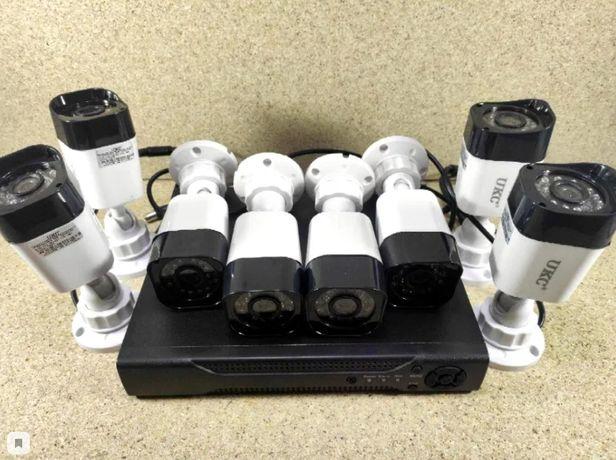 Набор камер видеонаблюдения AHD KIT 8 камер система видеонаблюдения
