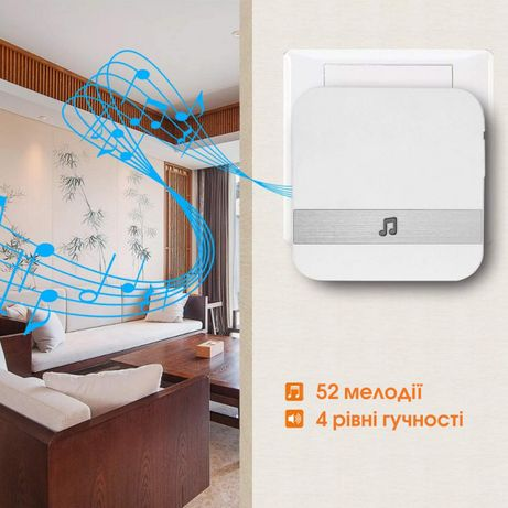 Звонок для для домофона WiFi SMART DOORBELL CAD M6 белый