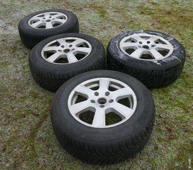 "felgi aluminiowe 17"" 5x130 + opony zimowe Dunlop, VW, Audi, skoda"