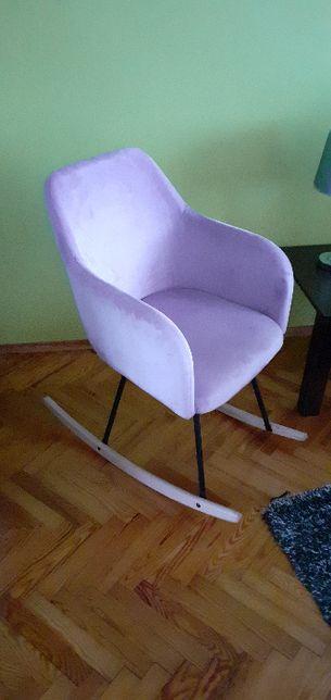 Fotel bujany na płozach