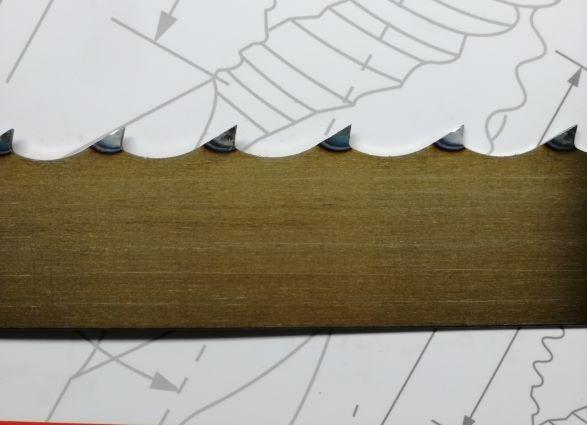 Mocna Niemiecka Piła taśmowa do drewna LEWHARD Gold 40x1.1x4000 ROH