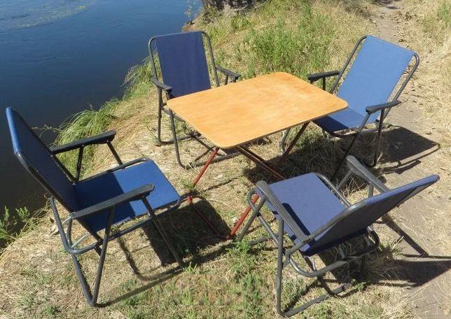 Стол складной и 4 стула