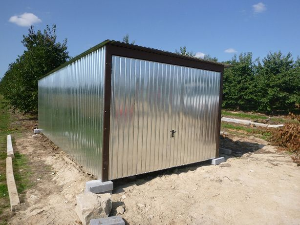 Garaż blaszany Blaszak 3x5 wzmocniony GARAŻ z dostawą i montażem