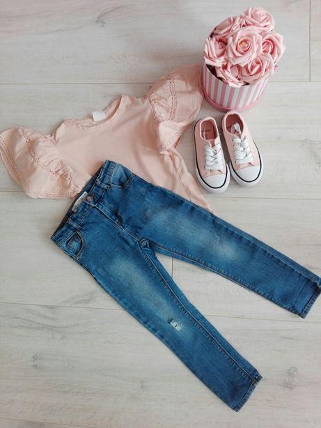 Spodnie jeansowe Zara 110 trampki 28