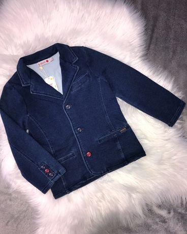 Новый стрейчевый пиджак, блейзер Boboli на мальчика 4 года, 104 см