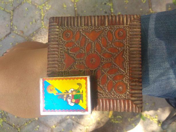 Продам шкатулку советскую деревянную