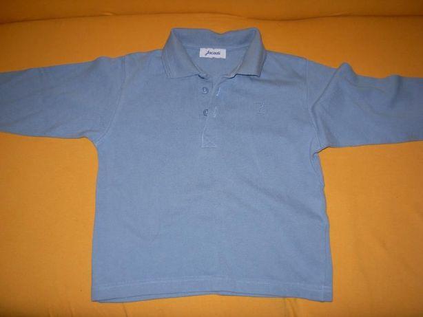 Polo Jacadi Azul 5/6 anos + T'shirt Stedman Laranja 5/6 anos