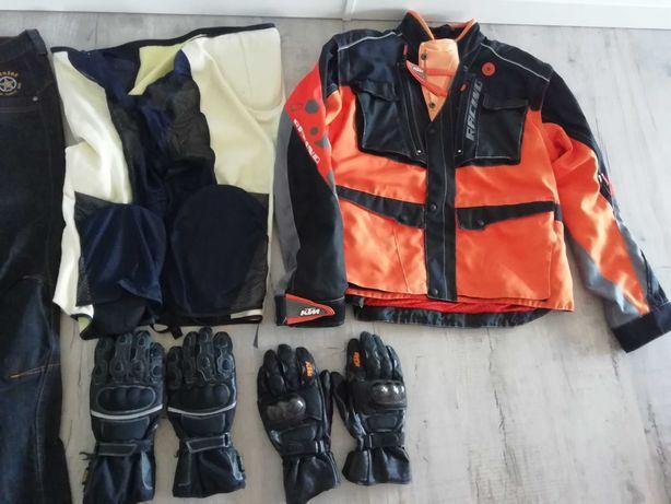 Strój motocyklisty zestaw