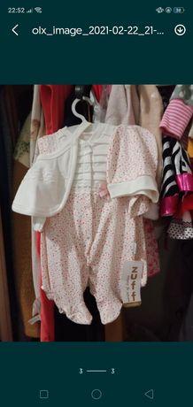Комплект для новонародженої. Повзунки,бодік,чоловічок, шапочка слюнявч