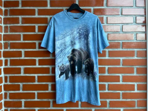 -ОТПРАВЛЕНО The Mountain оригинал мужская футболка с медведями мерч