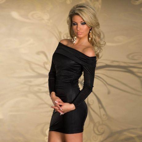 #1321.Latexowa sukienka sexi wieczorowa nocna