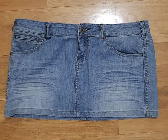 Jeansowa mini spódniczka rozmiar L wysyłka gratis