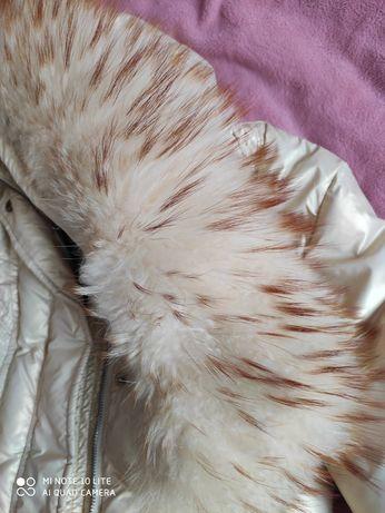 Зимняя куртка пуховик laider натуральный мех