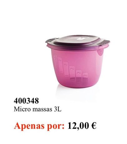 Micro massas 3l tupperware