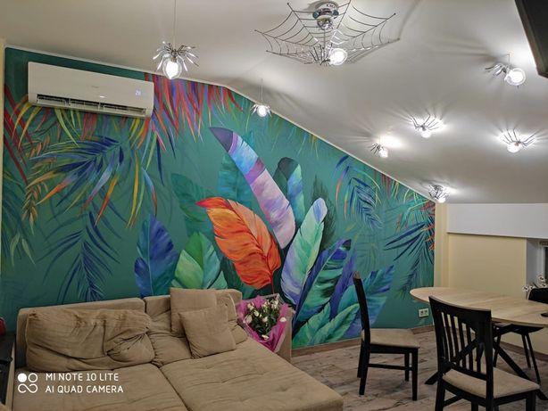 Роспись стен,рисунки на стене не дорого