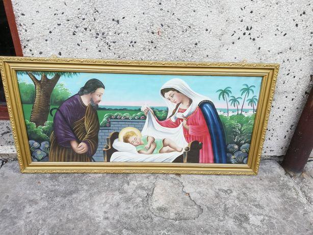 Obraz Boża rodzina rama złota