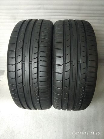 2 x 225/40/18 Continental SportContact 5 225/40R18 Para Lato