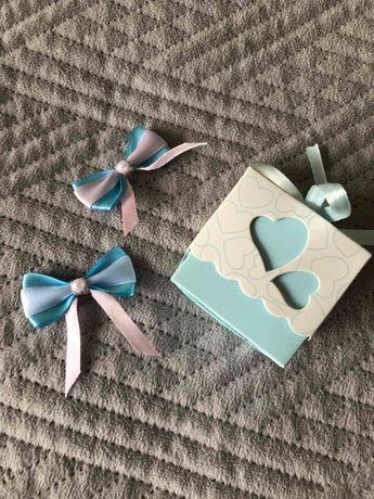 Бонбоньє́рка (коробочка) для цукерок, бутоньєрки (бантики) на весілля