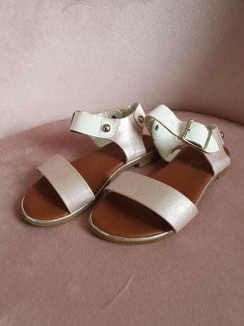 Sandałki sandały 27 różowo- śmietankowe